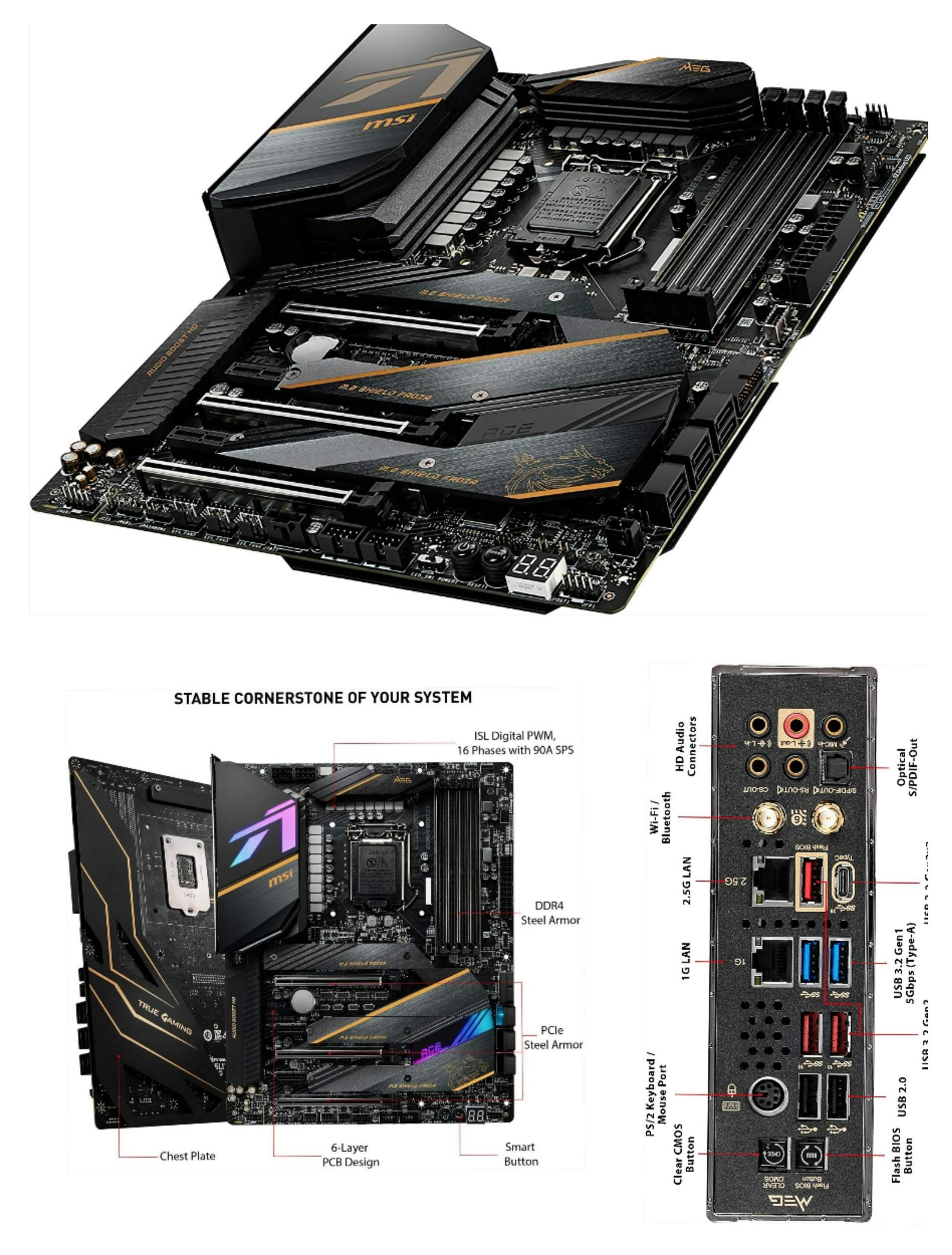 MSI MEG Z490 ACE ATX Gaming Motherboard